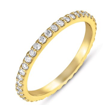 Yellow Gold Eternity Band
