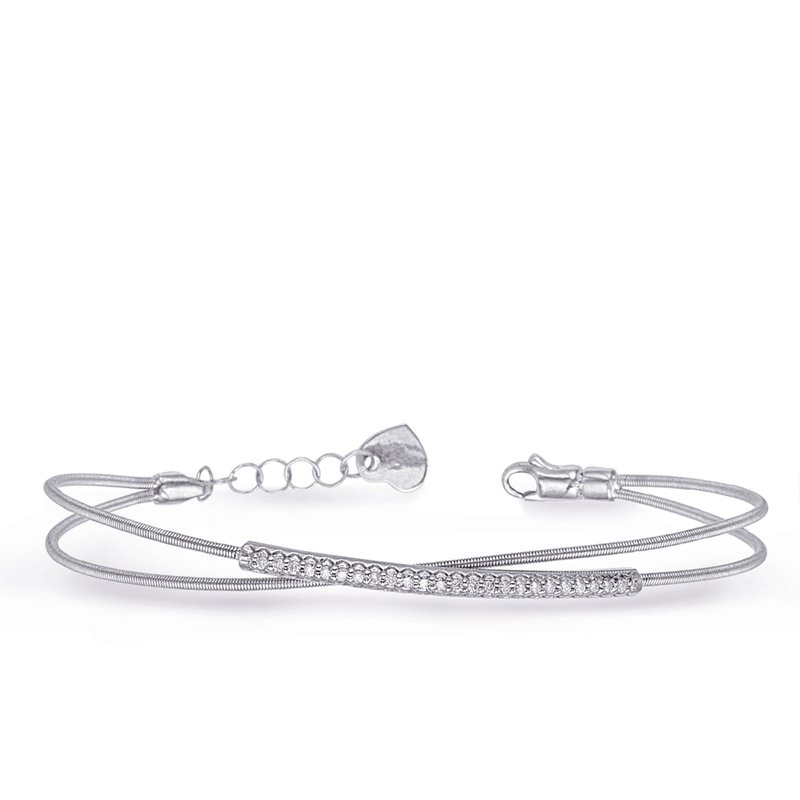 Briana White Gold Bangle Italian Made