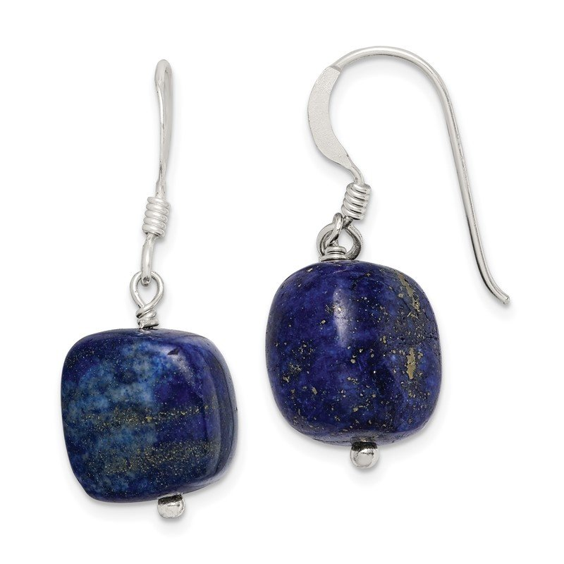 Quality Gold Sterling Silver Blue Sodalite Earrings