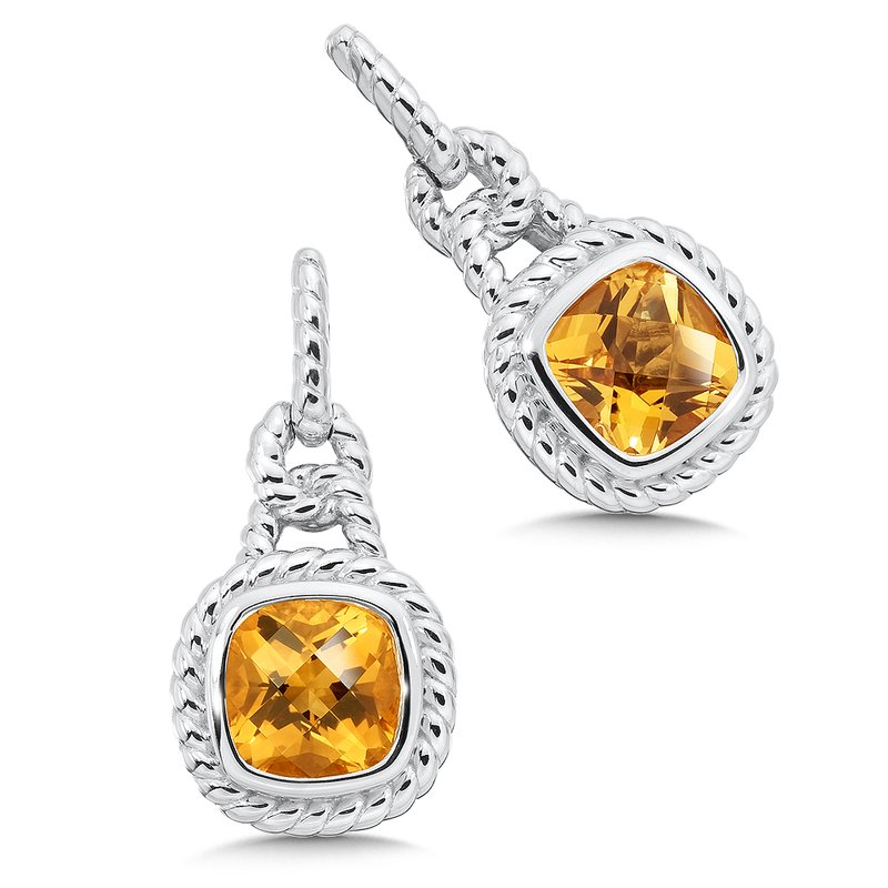 Colore SG Sterling Silver Citrine Post Earrings
