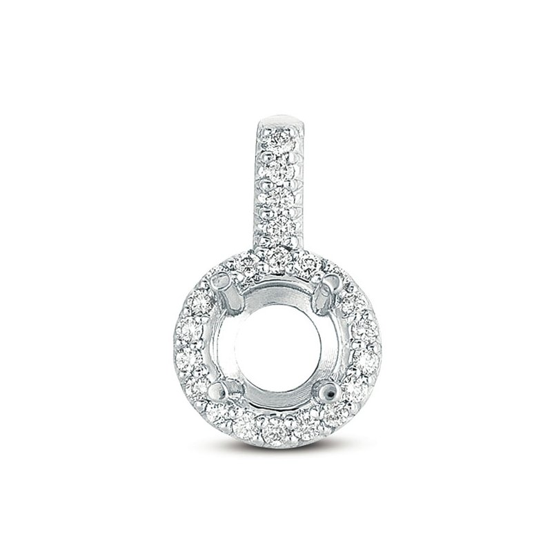 S. Kashi  & Sons Diamond Pendant For 1ct Round Stone