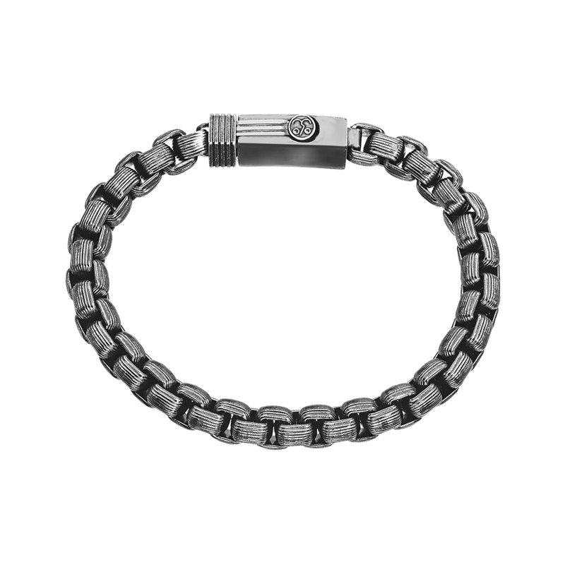 SDC Creations Men's Steel Fineline Box Chain Bracelet