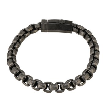 Men's Steel Fineline Box Chain Bracelet