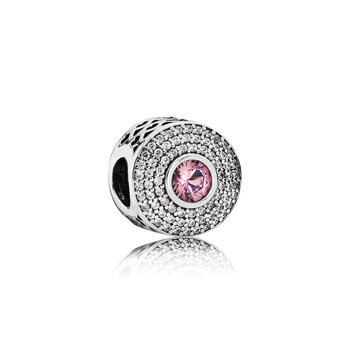 Radiant Splendor, Blush Pink Crystal & Clear CZ