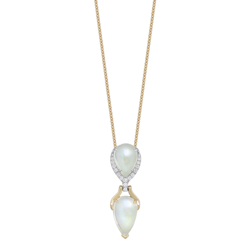 Spark Creations Moonstone & Diamond Necklace