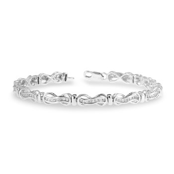 925 Sterling Silver and Diamond Fashion Bracelet