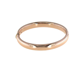 18Kt Gold Wide Oval Bangle
