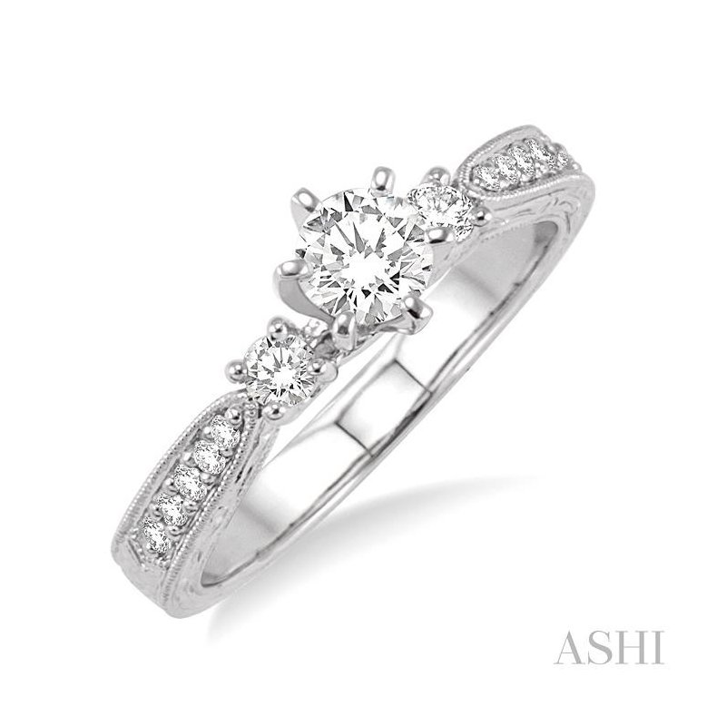 ASHI past present & future diamond engagement ring