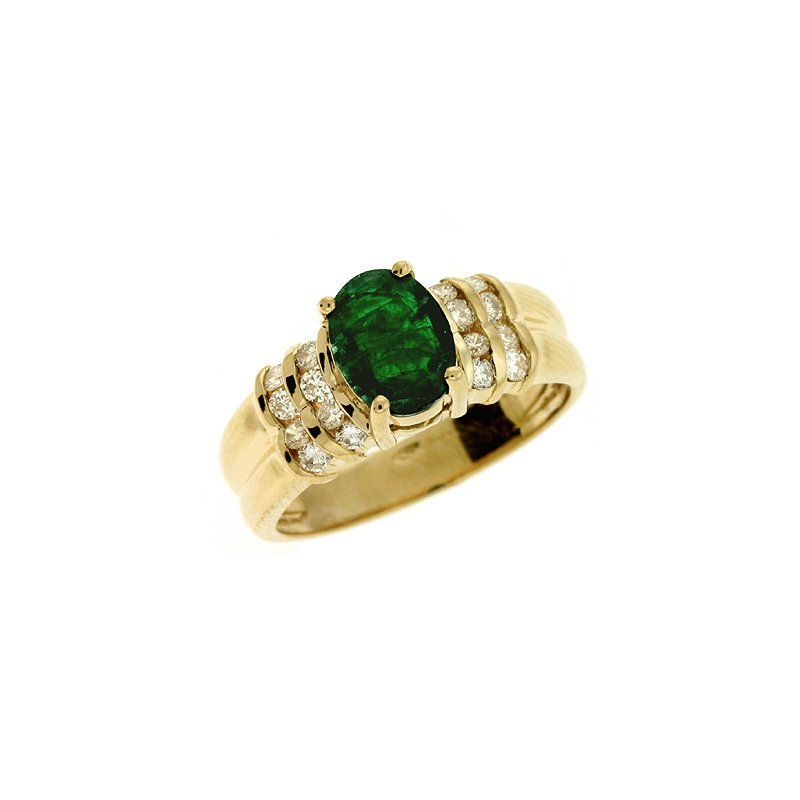 Briana Emerald & diamond Ring