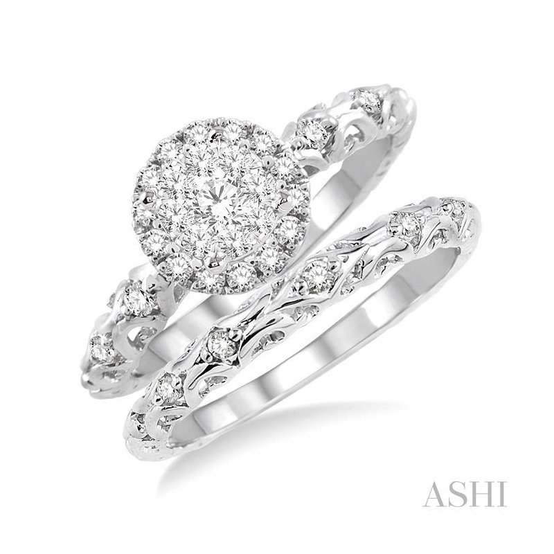 Barclay's Signature Collection lovebright bridal diamond wedding set