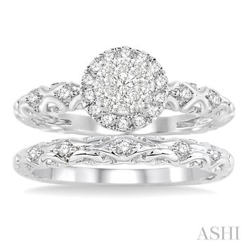 lovebright bridal diamond wedding set