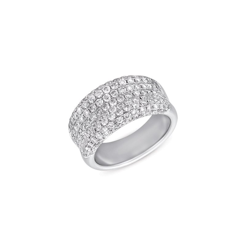 S. Kashi & Sons Bridal White Gold Diamond Band