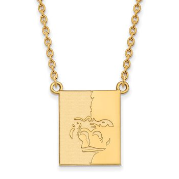 Gold-Plated Sterling Silver Pittsburg State University NCAA Necklace