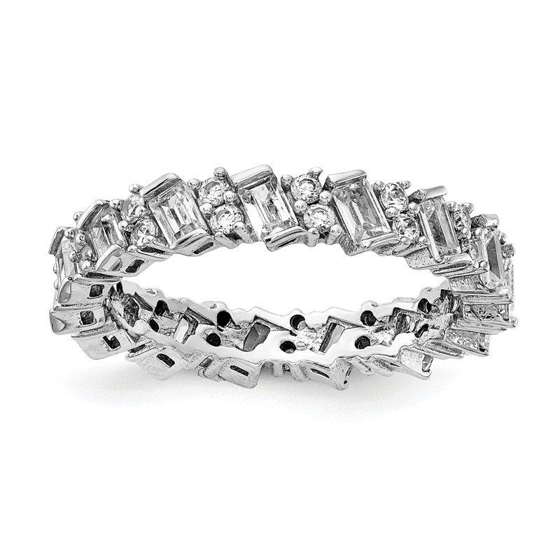 Lester Martin Online Collection Sterling Silver Fancy CZ Eternity Band