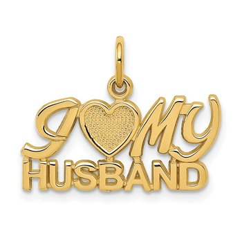 14k I (Heart) MY HUSBAND Charm