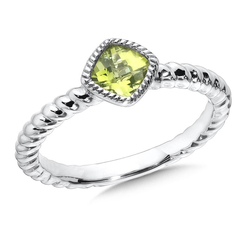 Colore SG Sterling Silver Peridot Stacking Ring