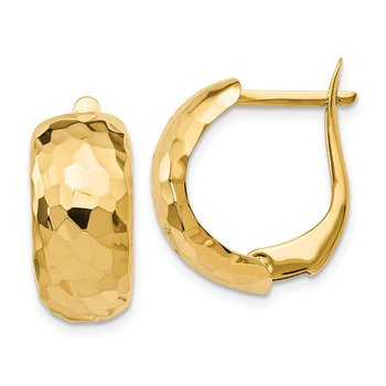 Leslie's 14K Polished Textured Hoop Earrings