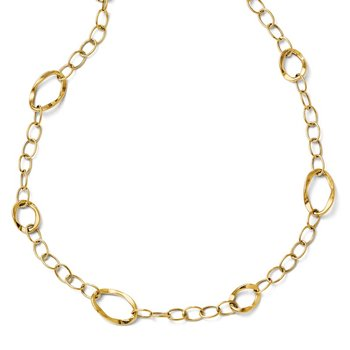 Leslie's 14k Polished Fancy Link w/ 2in ext Necklace