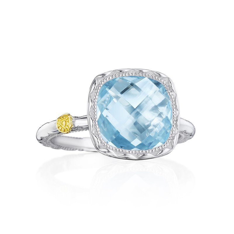 Tacori Fashion Cushion Gem Ring with Sky Blue Topaz