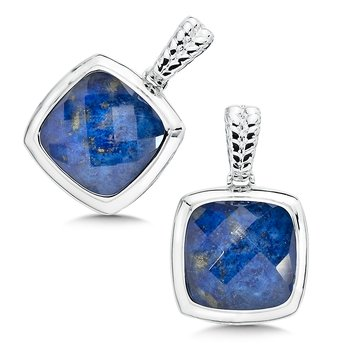 Sterling Silver Lapis & Quartz Colore Fusion Earrings