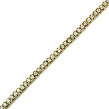 "4.00ctw 14K Yellow Gold ""C"" Channel Diamond Bracelet"