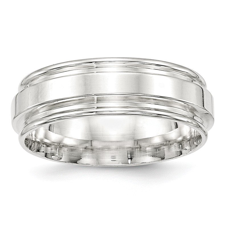 Lester Martin Online Collection SS 7mm Polished Fancy Band Size 10