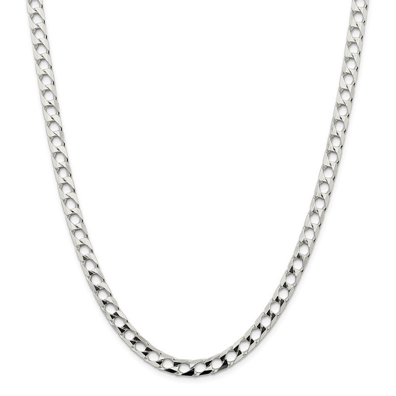 Quality Gold Sterling Silver 6.25mm Flat Open Curb Chain