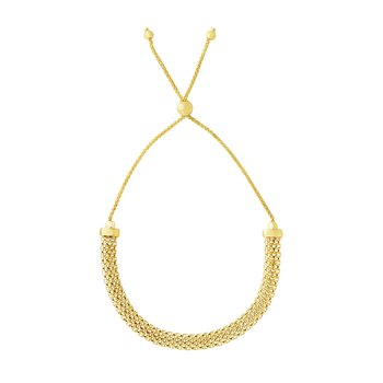 14K Gold Popcorn Chain Friendship Bracelet