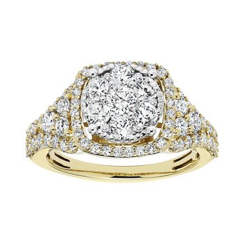 14K Diamond Engagement Ring 2 ctw Complete