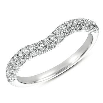 Pave Curved Band