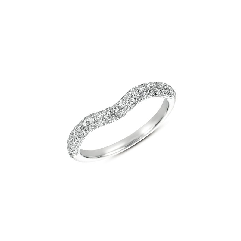 S. Kashi & Sons Bridal Pave Curved Band