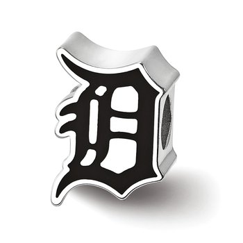 Sterling Silver Detroit Tigers MLB Bead