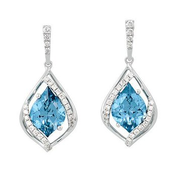 Aqua Blue Spinel Earrings-CE4011WAQ