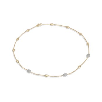 Siviglia Gold & Diamond Pave Small Bead Necklace