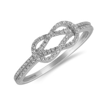 10KT WG and diamond Infinity ring in prong setting
