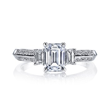 Diamond Engagement Ring 0.21 ct rd 0.15 ct bg