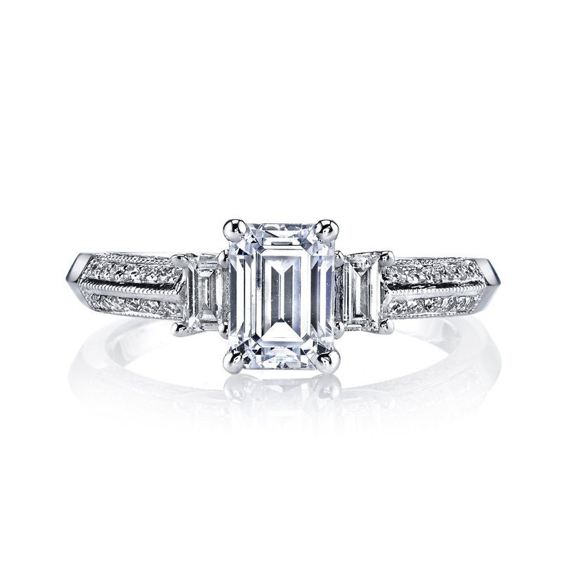 MARS Jewelry Diamond Engagement Ring 0.21 ct rd 0.15 ct bg