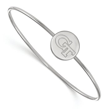 Sterling Silver Georgia Institute of Technology NCAA Bracelet