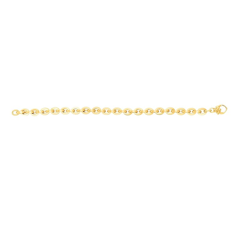 Royal Chain 14K Gold Oval Heritage Link Bracelet