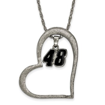 Stainless Steel 48 Jimmie Johnson NASCAR Pendant