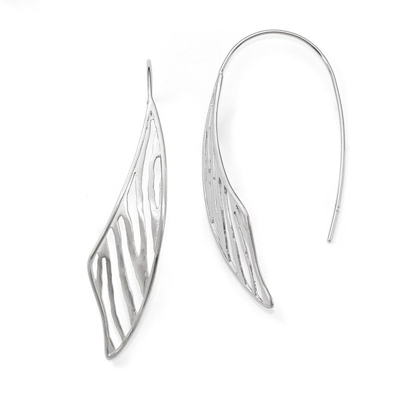 Leslie's Leslie's Sterling Silver Polished and Matte Fancy Earrings