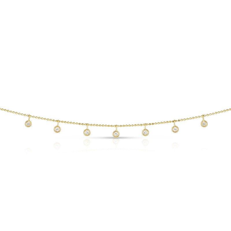 Royal Chain 14K Gold .25ct Dangling Diamonds Necklace