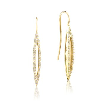 Pavé Surfboard French Wire Earring