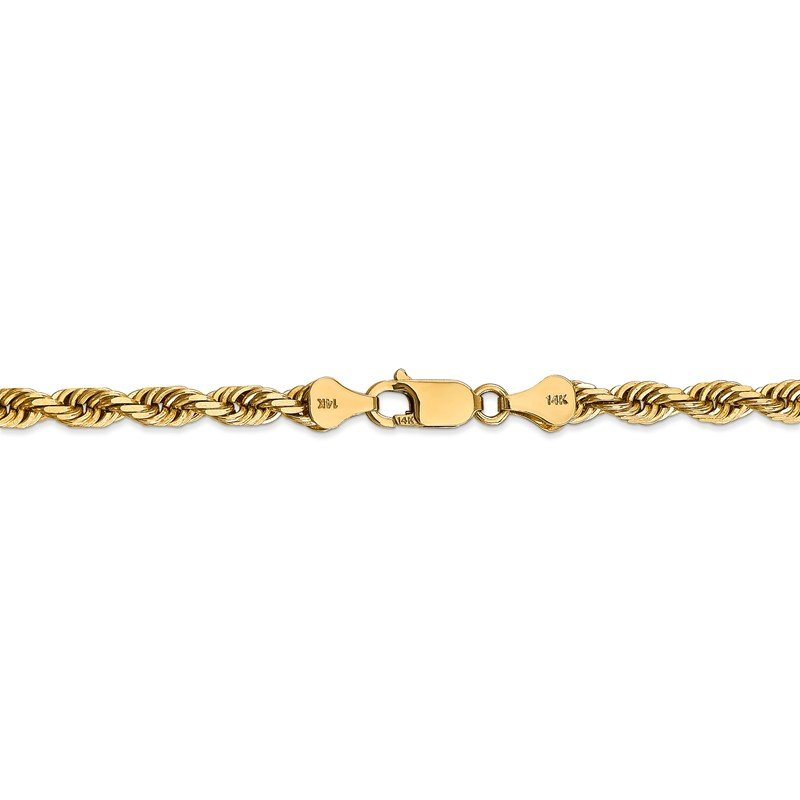 Quality Gold 14k 5.0mm D/C Quadruple Rope Chain