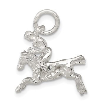 Sterling Silver Moveable Bronco Charm