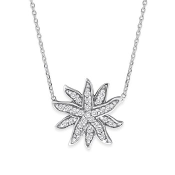 Diamond Sea Creature Necklace in 14K White Gold with 28 Diamonds Weighing .41ct tw.