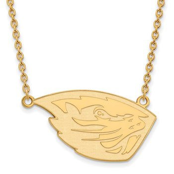 Gold-Plated Sterling Silver Oregon State University NCAA Necklace