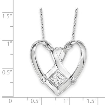 Sterling Silver CZ Captivated 18in. Necklace