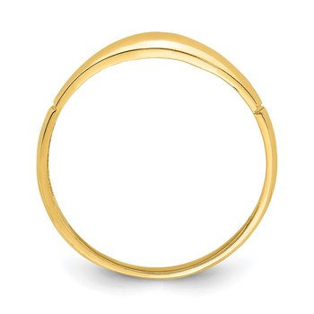 14K D/C Band Ring