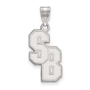 Sterling Silver Stony Brook University NCAA Pendant